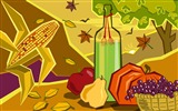 Title:Picnic-Thanksgiving day wallpaper illustration design Views:5493