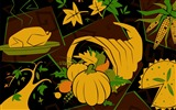 Title:Rich foods-Thanksgiving day wallpaper illustration design Views:4907