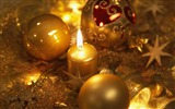 Title:Golden candles and Christmas balls wallpaper Views:17586