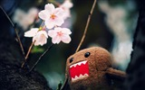 Title:domo kun and tree blossoms-Cute funny design desktop picture Views:10790