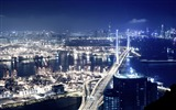 Title:panoramic view of hong kong  at night-the city landscape photography wallpaper Views:12474