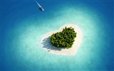 Title:aerial view of heart shaped tropical island-Island travel landscape photography Desktop Wallpapers Views:42221