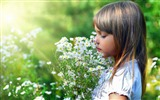 Title:child and flowers-summer landscape wallpaper Views:7965