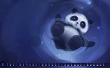 Title:Cute Panda-March 2012 calendar desktop themes wallpaper Views:15248