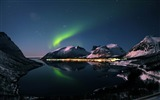 Title:aurora-Beautiful mountain scenery picture Views:15567