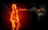 Title:girl-The fire of artistic creativity design wallpaper Views:9147