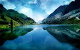 Title:magic-Beautiful mountain scenery picture Views:36092