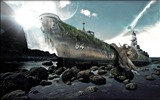 Title:shipwreck-PS creative theme design pictures Views:5497