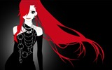 Title:anime girl with red hair-Cartoon character design wallpaper Views:42669