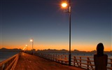 Title:Bridge with lights-Nature Scenery Wallpaper Views:5802