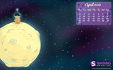 Title:bear on the moon-April 2012 calendar themes wallpaper Views:4433