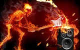 Title:fire guitar rock sound-Music lovers wallpaper Views:43479