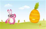 Title:funny bunny-April 2012 calendar themes wallpaper Views:4673