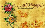 Title:ed hardy rose-Artistic creation design wallpaper Views:18777