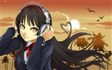 Title:listening to music-Cartoon characters wallpaper Views:6784