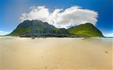Title:beach mountain-Summer landscape wallpaper Views:5057