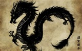 Title:chinese black dragon-Vintage style wallpaper Views:71219