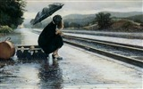 Title:girl at platform-High Quality wallpaper Views:6622