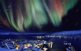 Title:Hammerfest Norway Northern Lights over-Bing Wallpaper Views:86407