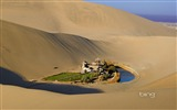 Title:Near Mingsha and Crescent Moon Spring in Dunhuang Silk Road-Bing Wallpaper Views:60352