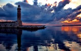 Title:lighthouse at sunset-Nature Landscape Wallpapers Views:3006
