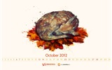 Title:Autumn Deer-October 2012 calendar wallpaper Views:4979