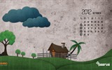 Title:Departing Monsoon Clouds-October 2012 calendar wallpaper Views:5845