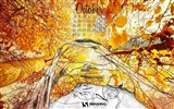 Title:Dream Of Autumn-October 2012 calendar wallpaper Views:7038