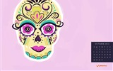Title:Fancy Sugar Skull-October 2012 calendar wallpaper Views:11687