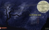 Title:Halloween Moon-October 2012 calendar wallpaper Views:9608