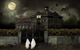 Title:scary house-2012 Happy Halloween theme Wallpapers Views:10697