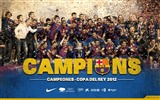 Title:CHAMPIONS SPANISH CUP 2012-FC Barcelona Club HD Wallpaper Views:10522