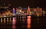 Title:Night view of the city-Stockholm Sweden landscape photography HD wallpaper Views:14975
