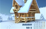 Title:Happiness In Winter-January 2013 calendar desktop themes wallpaper Views:6956
