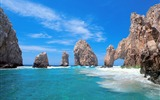 Title:Sun Sea Rocks-beautiful natural landscape Wallpaper Views:6802