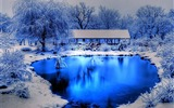 Title:Winter blue lake-beautiful natural landscape Wallpaper Views:29254