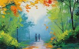 Title:Autumn stroll-Drawings creations HD Wallpaper Views:6298