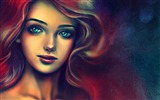 Title:portrait of a beautiful woman-Drawings creations HD Wallpaper Views:19780