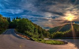 Title:sunny mountain road-Natural scenery HD Wallpaper Views:13940