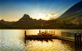 Title:sunset at glacier national park-Lakeside scenery HD wallpapers Views:3361