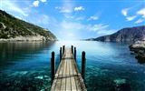 Title:Lake shore hdr-Natural landscape widescreen Wallpaper Views:3872