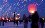 Title:Sky Lanterns-2013 Bing theme widescreen wallpaper Views:5025