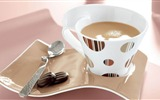 Title:coffee cup plate spoon cookies-food drinks HD wallpaper Views:5581