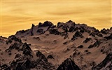 Title:Snow-capped mountains sunset-Ubuntu13 system wallpaper Views:2983