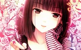 Title:girl face pen white pink-Anime design wallpaper Views:5054