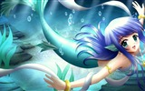 Title:girl mermaid tail smile-Anime design wallpaper Views:7955