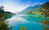 Title:lake mountains branches trees sky summer-landscape widescreen wallpaper Views:4940