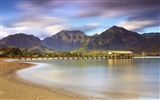 Title:pier beach sand mountains water-Beautiful natural scenery wallpaper Views:3177