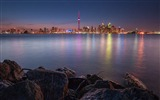 Title:Canada lake rocks night-Cities architectural photo wallpaper Views:3214