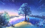 Title:Second element of the Fireflies Summer Cartoon Desktop Wallpaper Views:9587
